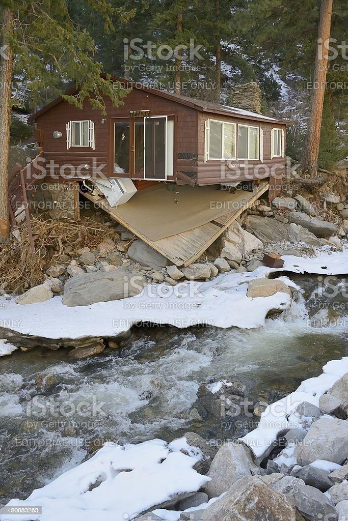 Big Thompson Flood Damage stock photo