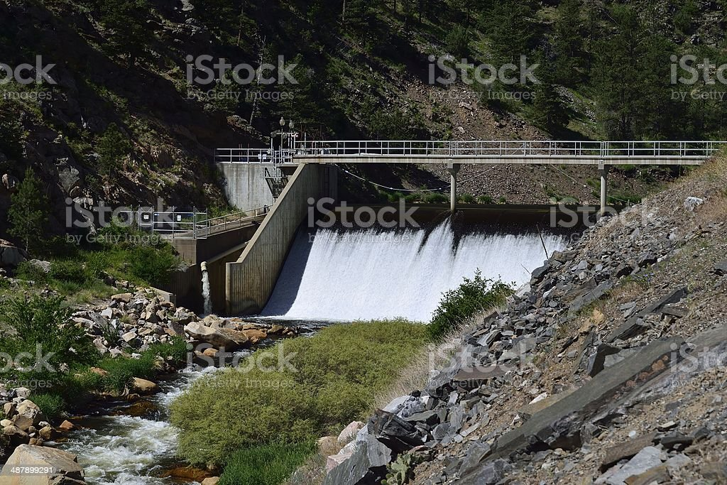 Big Thompson River Dam stock photo
