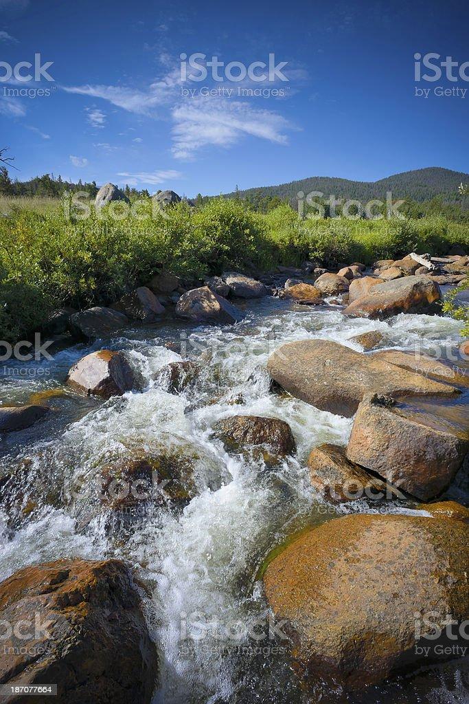 Big Thompson River stock photo
