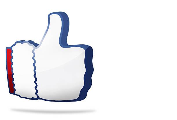 big thumb like icon 3D render blue design – Foto
