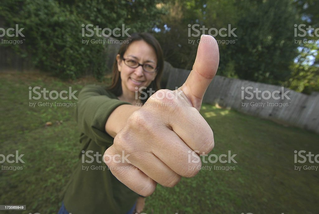 Big Thumbs Up royalty-free stock photo