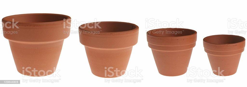 Big to small pots royalty-free stock photo