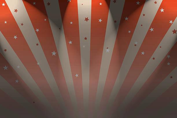 big top zirkus hintergrund mit strahlern und sternen - trapez stock-fotos und bilder