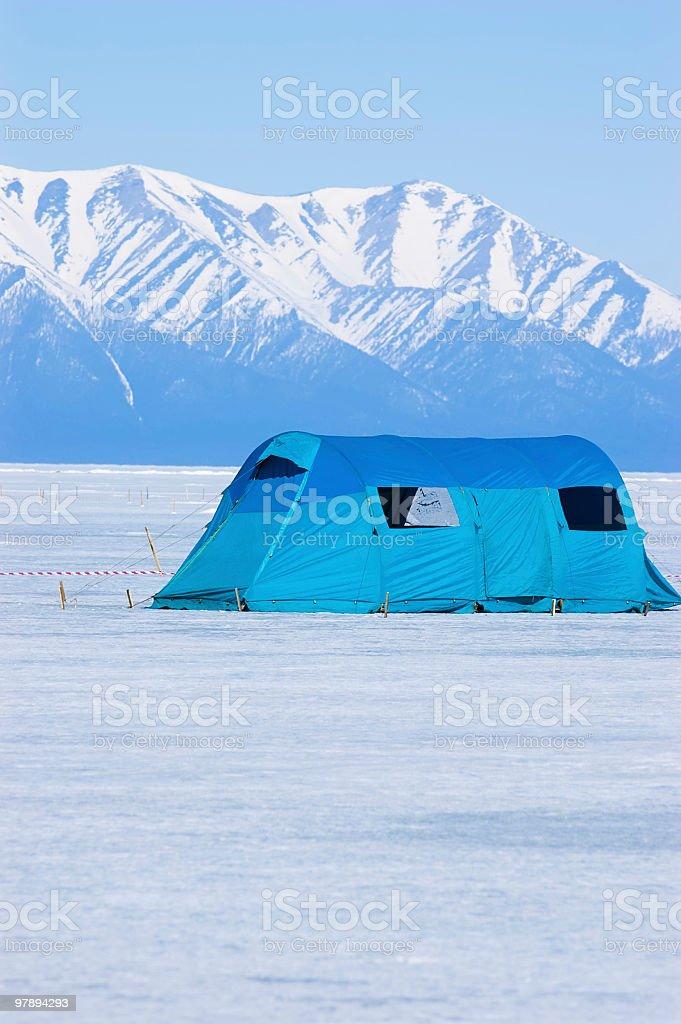 big tourist tent royalty-free stock photo