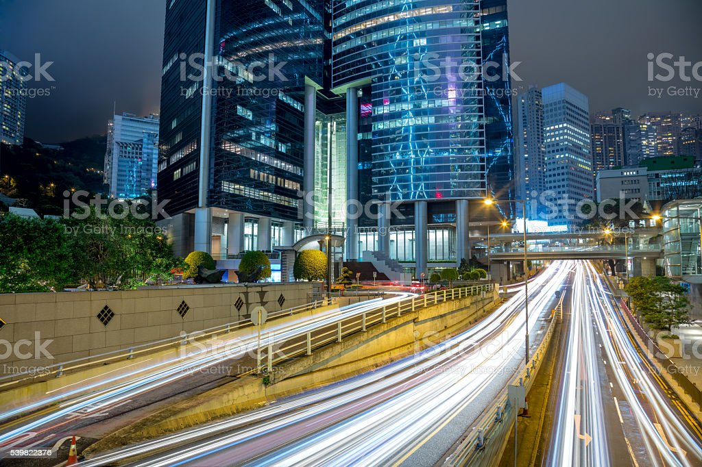 Big Traffic in the modern city stock photo