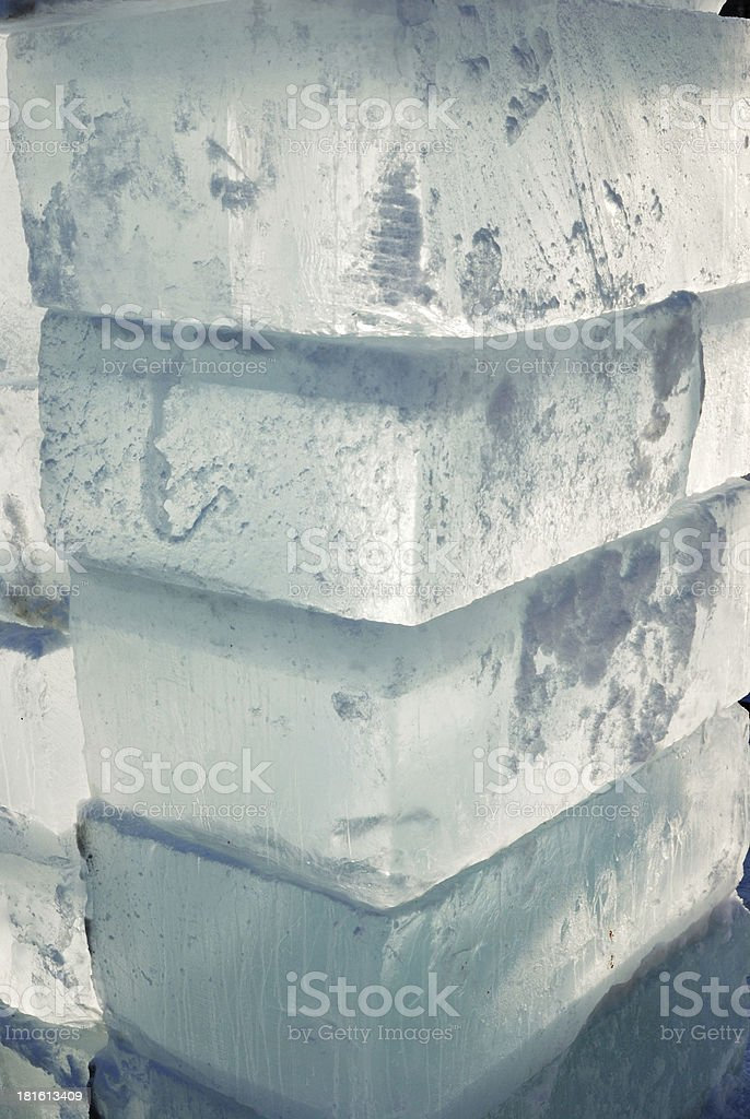 big translucent ice blocs royalty-free stock photo