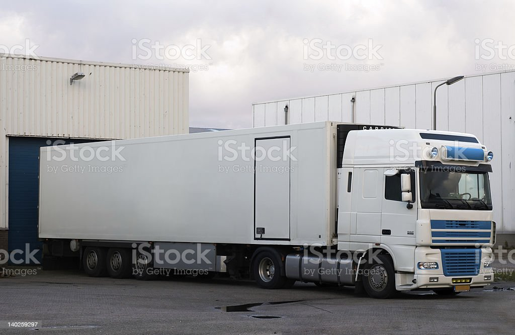 big truck at loading dock royalty-free stock photo