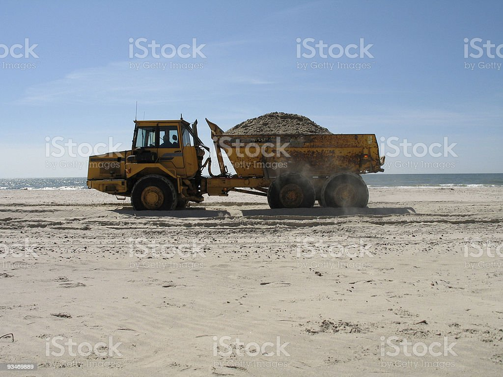 big truck on the beach royalty-free stock photo