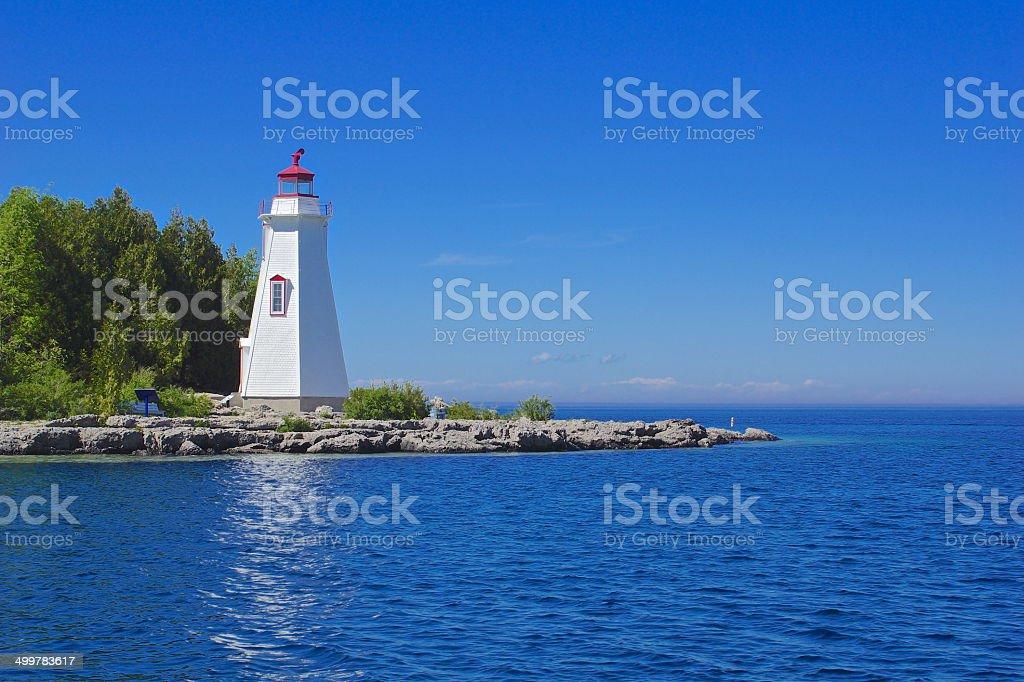 Big Tub Harbor Lighthouse stock photo