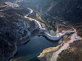 Drone Shot of Big Tujunga Dam in Los Angeles, California.