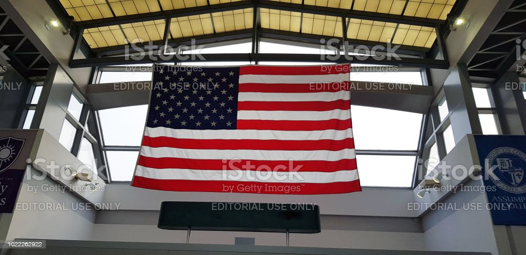 WORCESTER, MASSACHUSETTS. USA - AUGUST 17, 2018. Big United Estates...