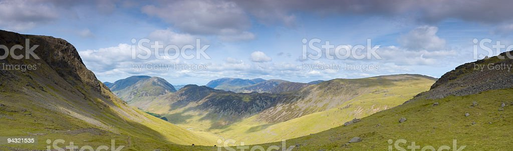 Big valley view royalty-free stock photo