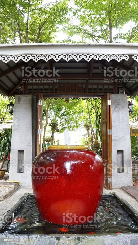 Big vase for exterior royalty-free stock photo
