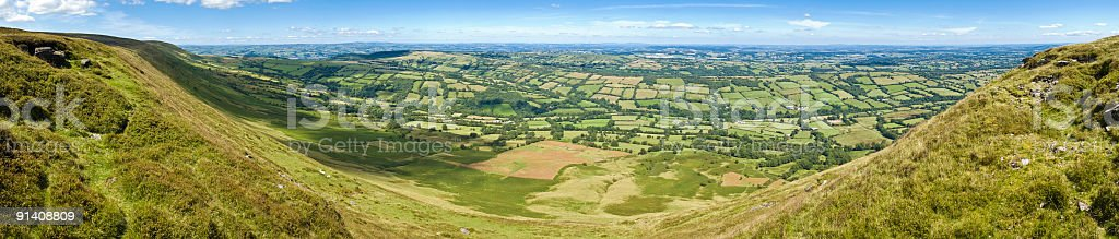 Big vista over rural landscape royalty-free stock photo