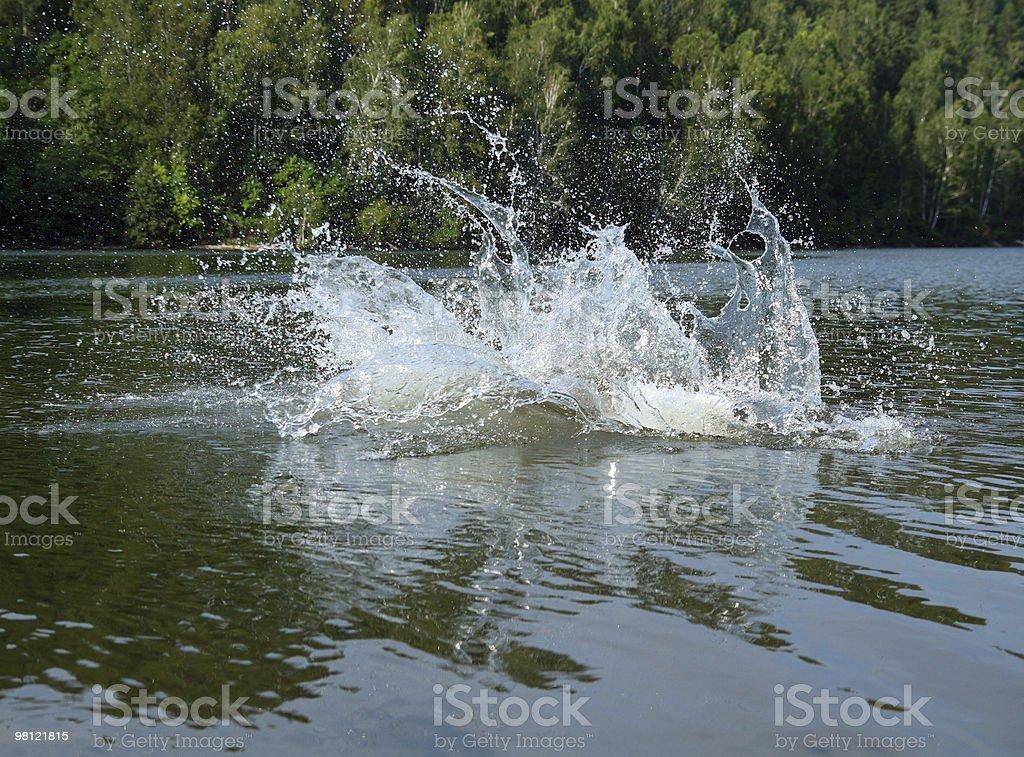 big water splash in lake royalty-free stock photo