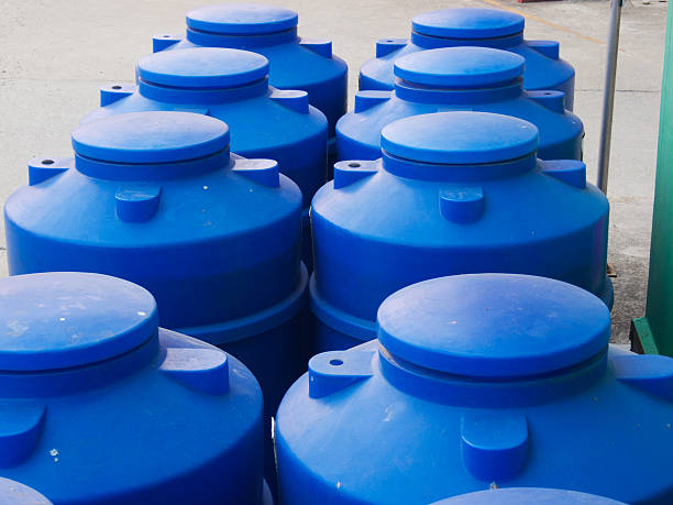 Big Water storage tank Blue Water storage tank volume fluid capacity stock pictures, royalty-free photos & images