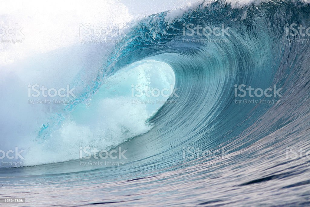 big wave breaking stock photo