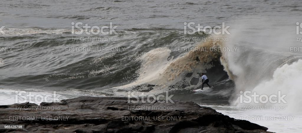 Big wave rider royalty-free stock photo