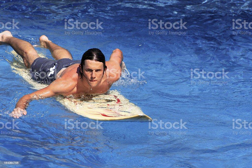 Big Wave Surfer stock photo