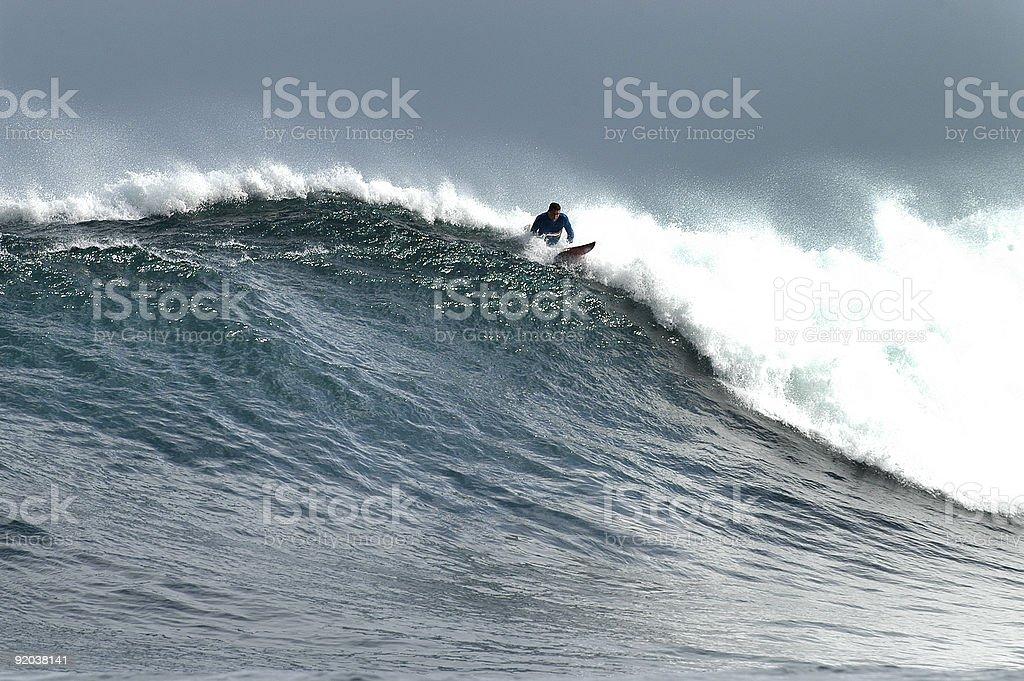 Big Wave Surfers stock photo
