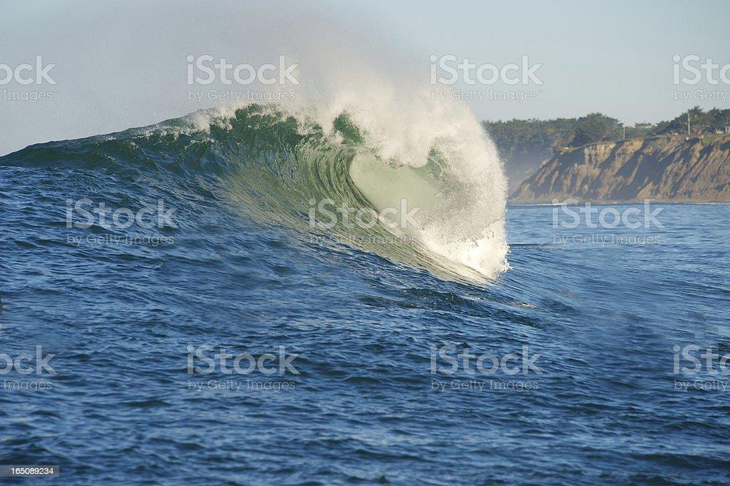 Big Wave Surfing stock photo