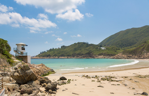 Big Waves Beach In Hong Kong Stock Photo - Download Image Now
