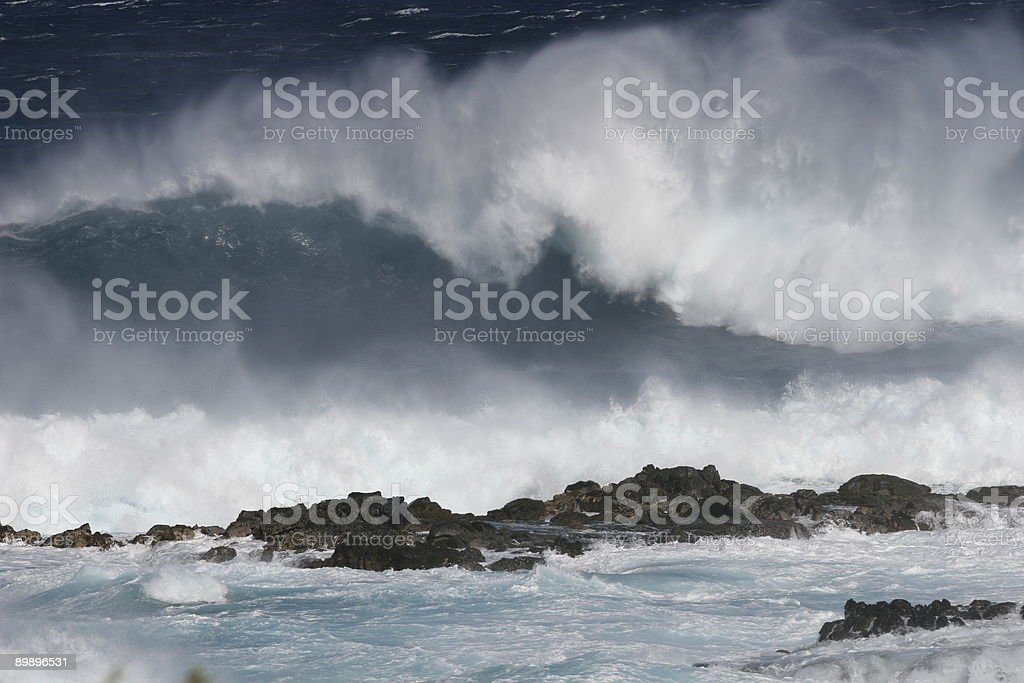 Big Waves on Maui royalty-free stock photo