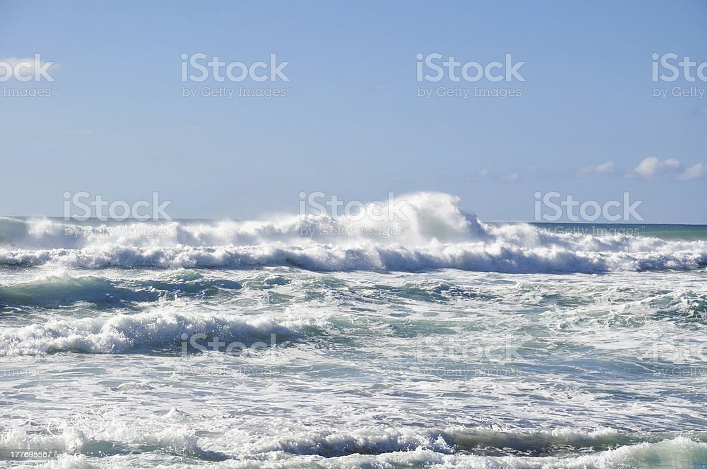 Big waves on Sunset Beach, Oahu, Hawaii royalty-free stock photo
