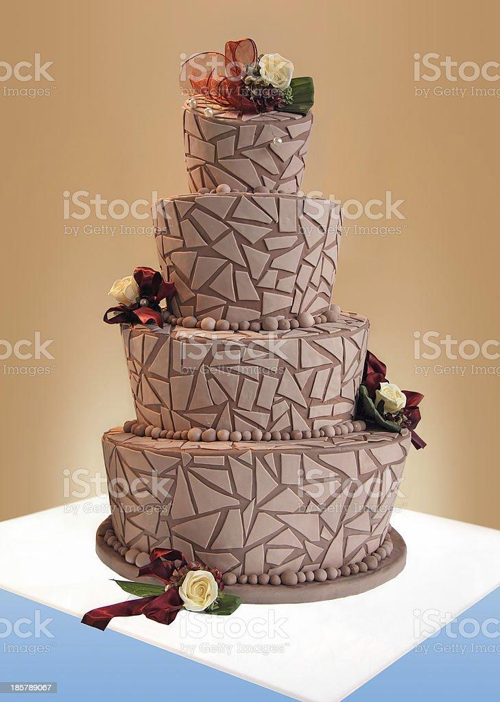Big wedding cake stock photo