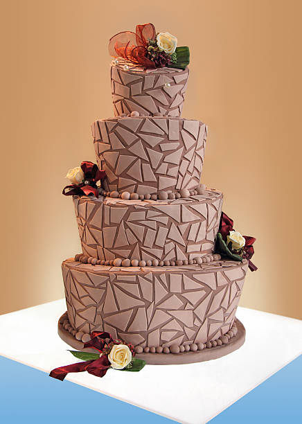 big wedding cake - big cake stock photos and pictures