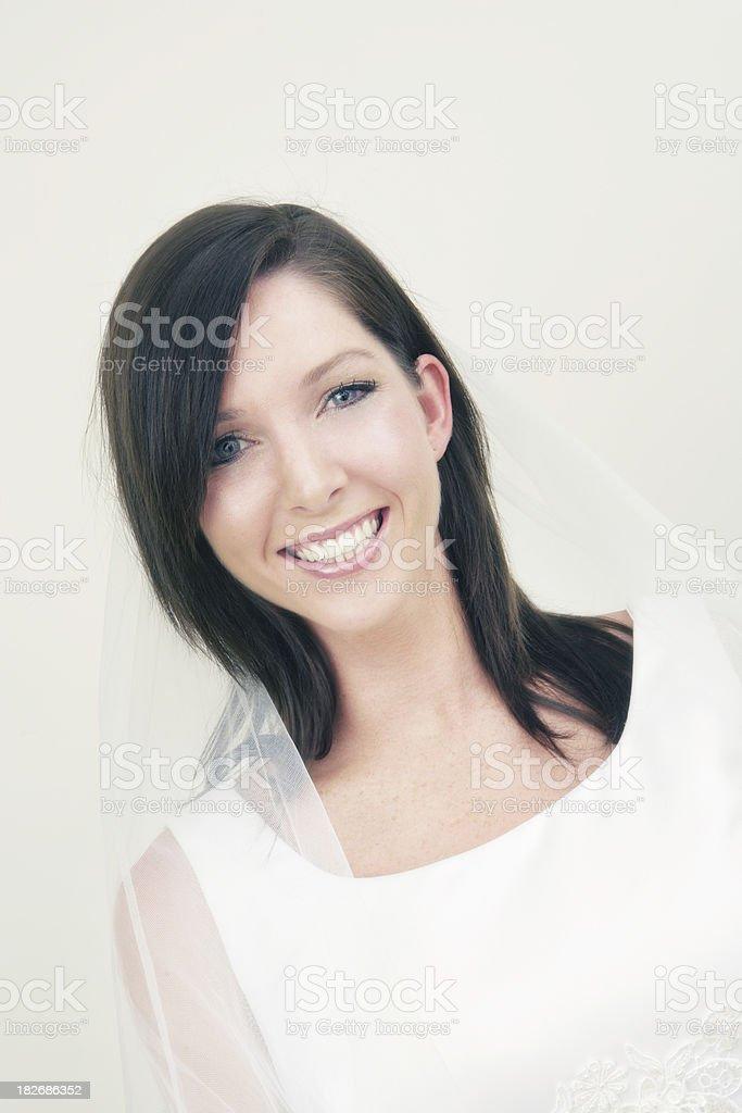 Big Wedding Day Smile royalty-free stock photo