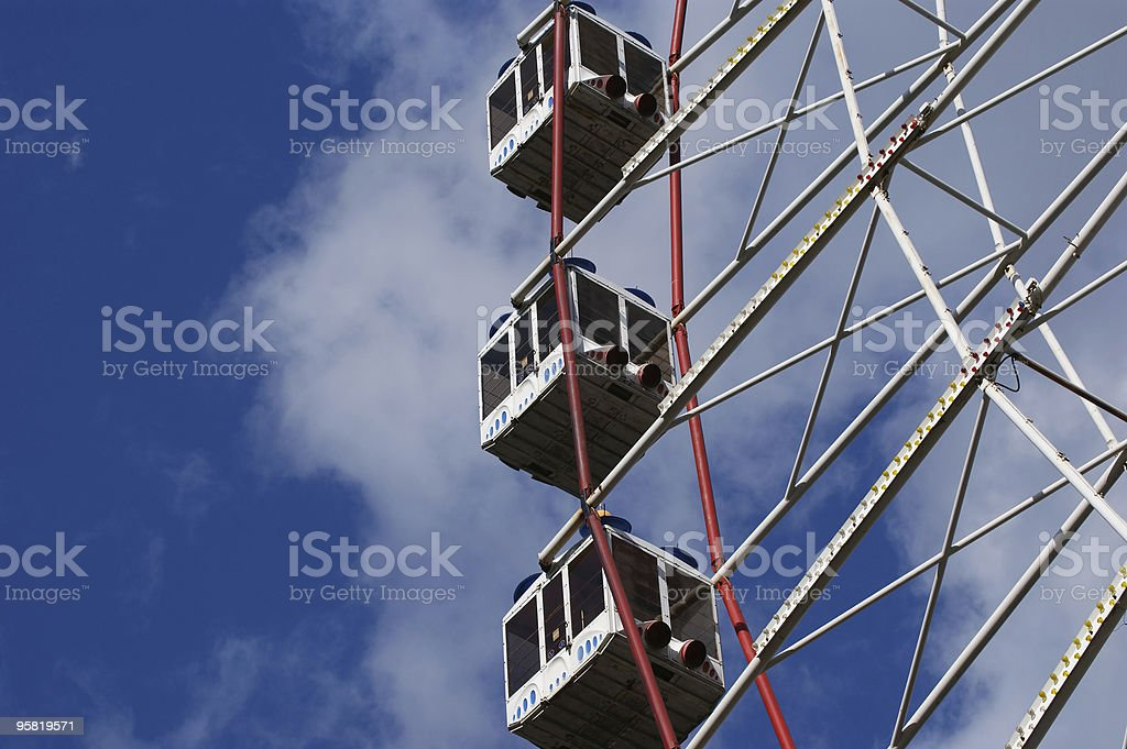 Big wheel against the blue sky royalty-free stock photo