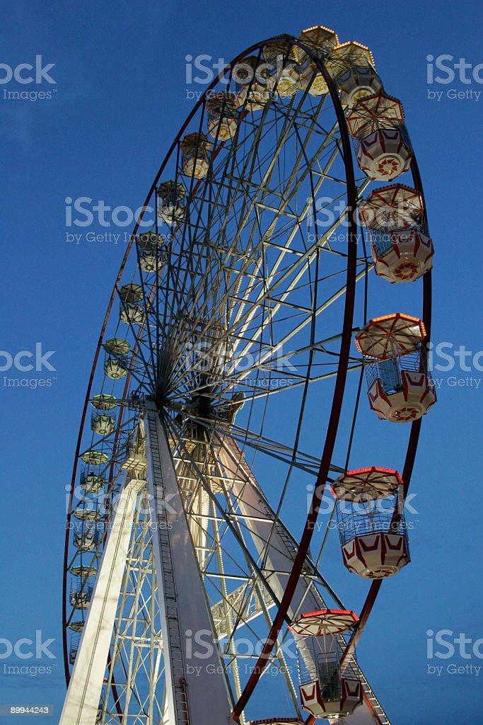 Big Wheel at dusk  Amusement Park Stock Photo