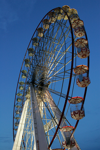 Big Wheel At Dusk Stock Photo - Download Image Now
