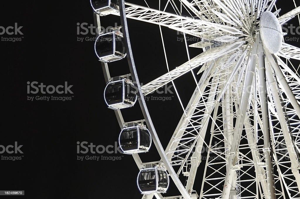 big wheel à noite foto royalty-free