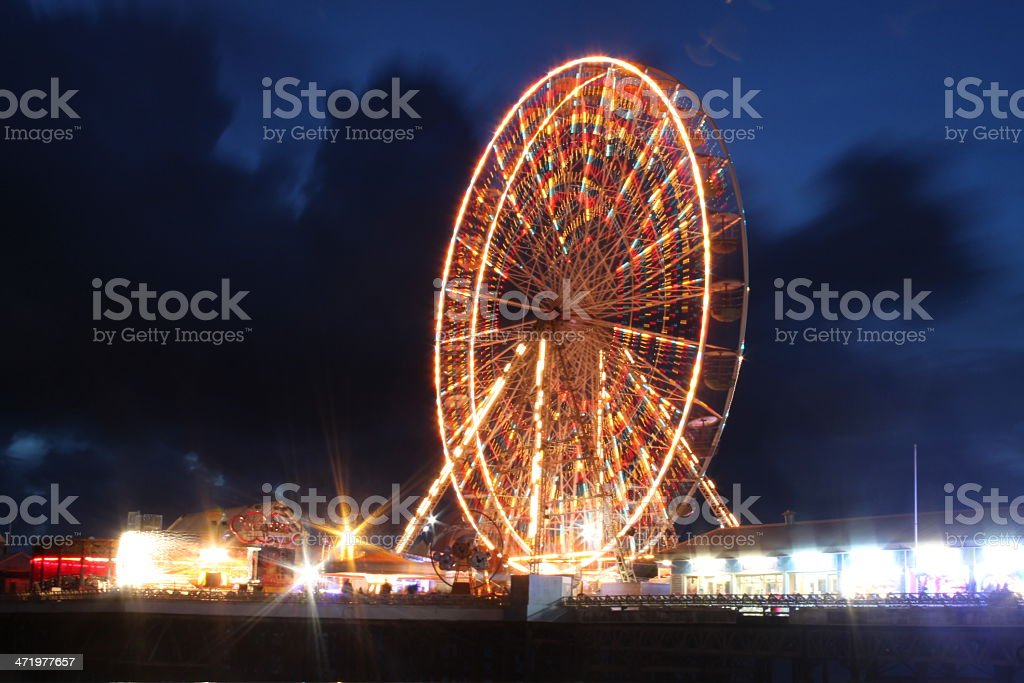 Big Wheel in Blackpool Pier stock photo
