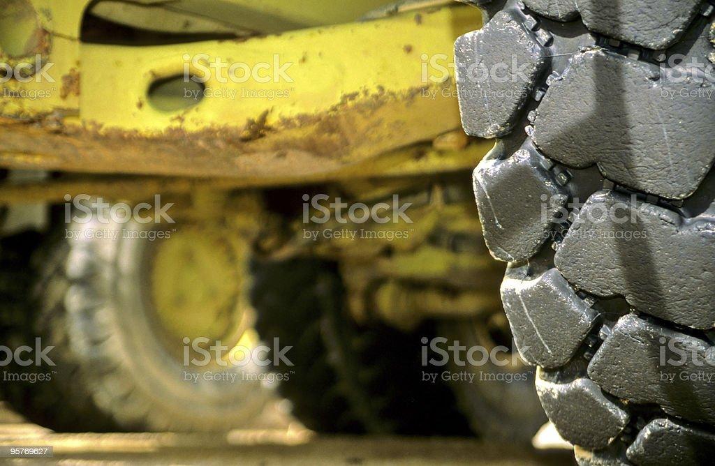 Big Wheel of a Heavy Duty Dump Truck royalty-free stock photo
