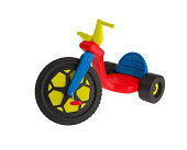 Realistic 3D render of a classic Big Wheel tricycle.  - Includes clipping path