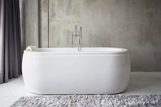 Big white bathtub – Foto