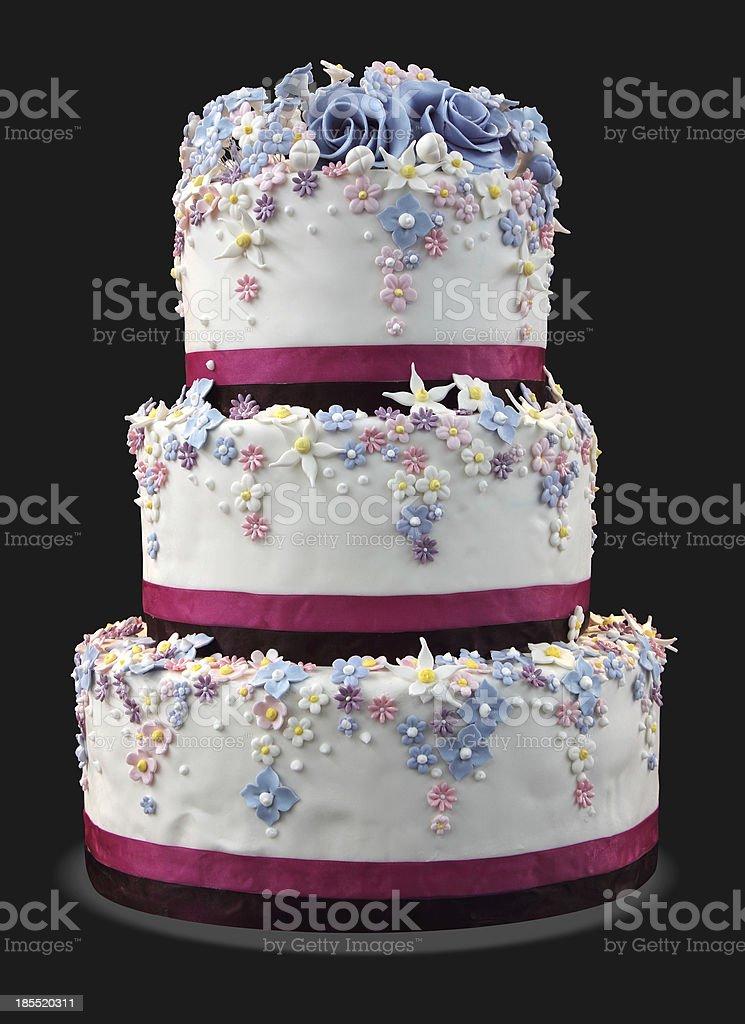 Big white cake stock photo