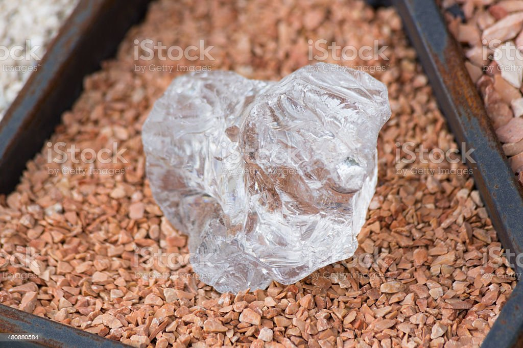 Big white crystal stock photo