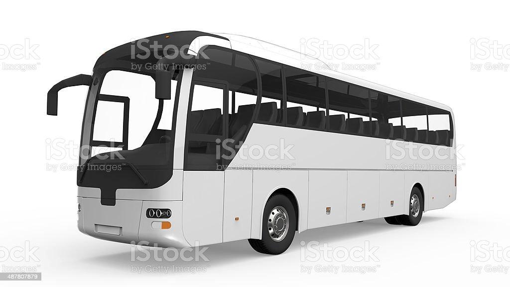Big White Bus turístico - foto de stock