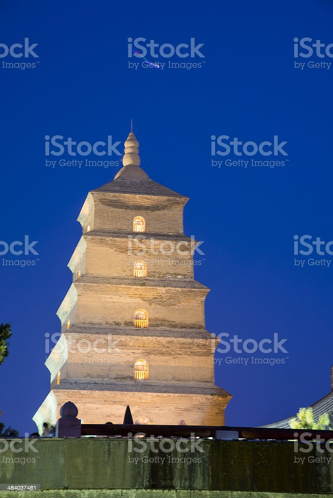 Big Wild Goose Pagoda, Xian, China stock photo