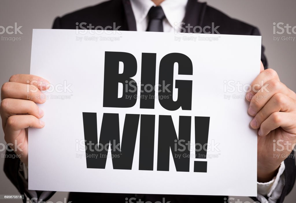 Big Win stock photo