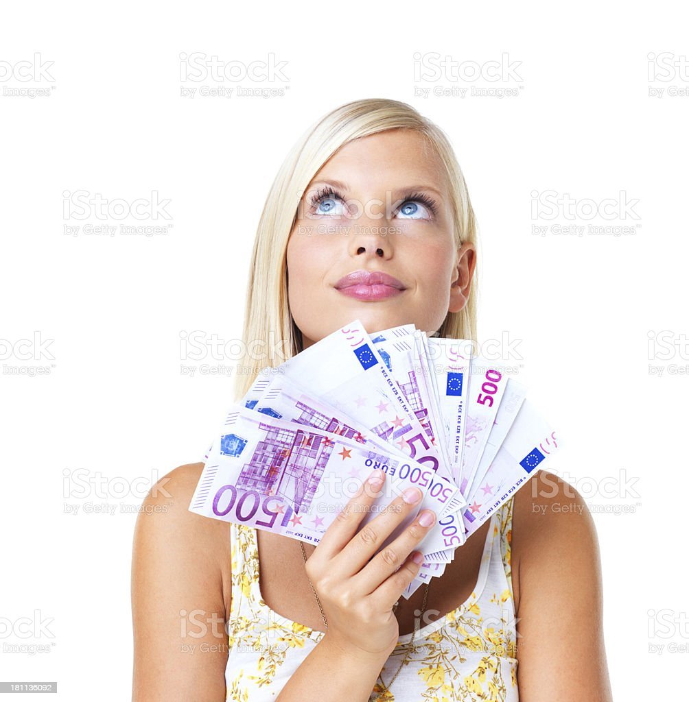 Big winner; bigger spender royalty-free stock photo