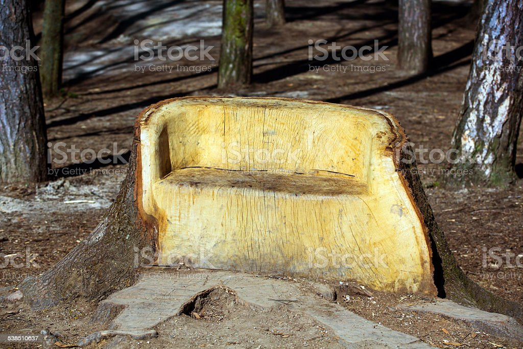 Outstanding Big Wooden Bench In Forest Stock Photo Download Image Now Gmtry Best Dining Table And Chair Ideas Images Gmtryco