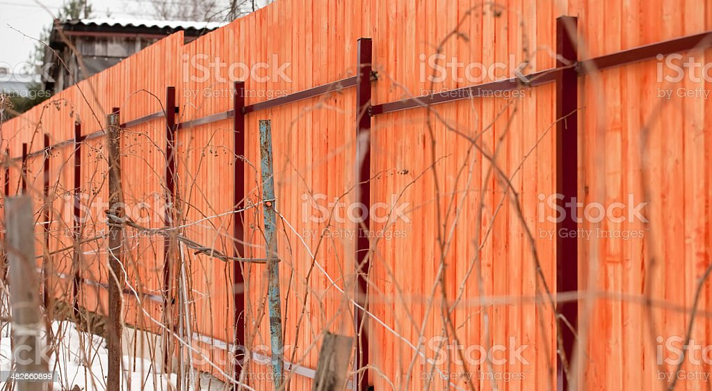 big wooden fence royalty-free stock photo