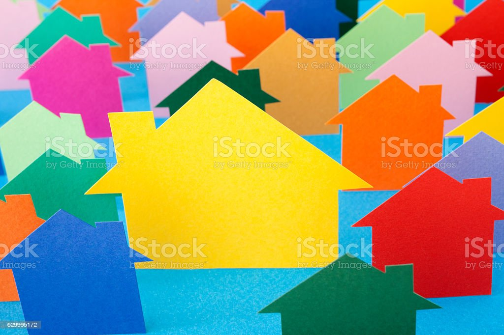 Big yellow house stock photo