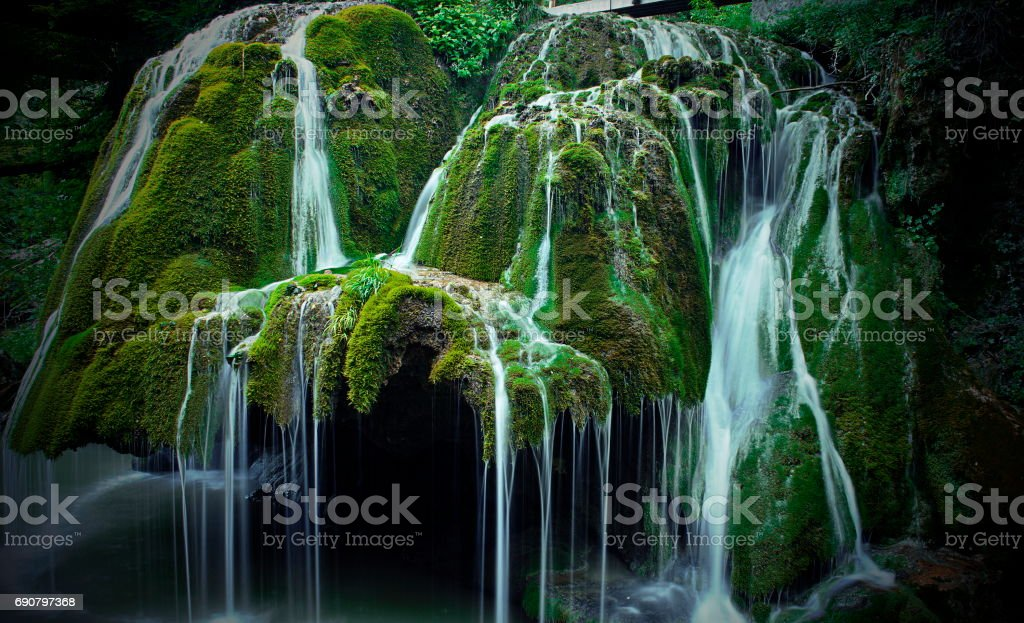 Bigar cascade, one of the most beautiful from Europe stock photo