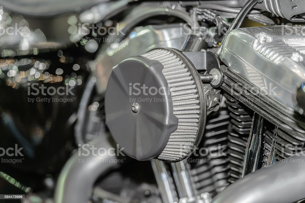 bigbike engine air filters. stock photo